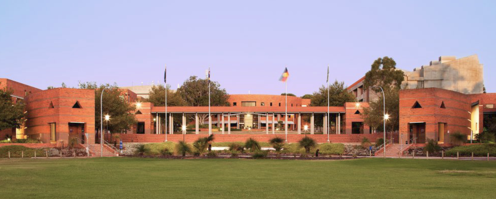 Curtin University flags flying