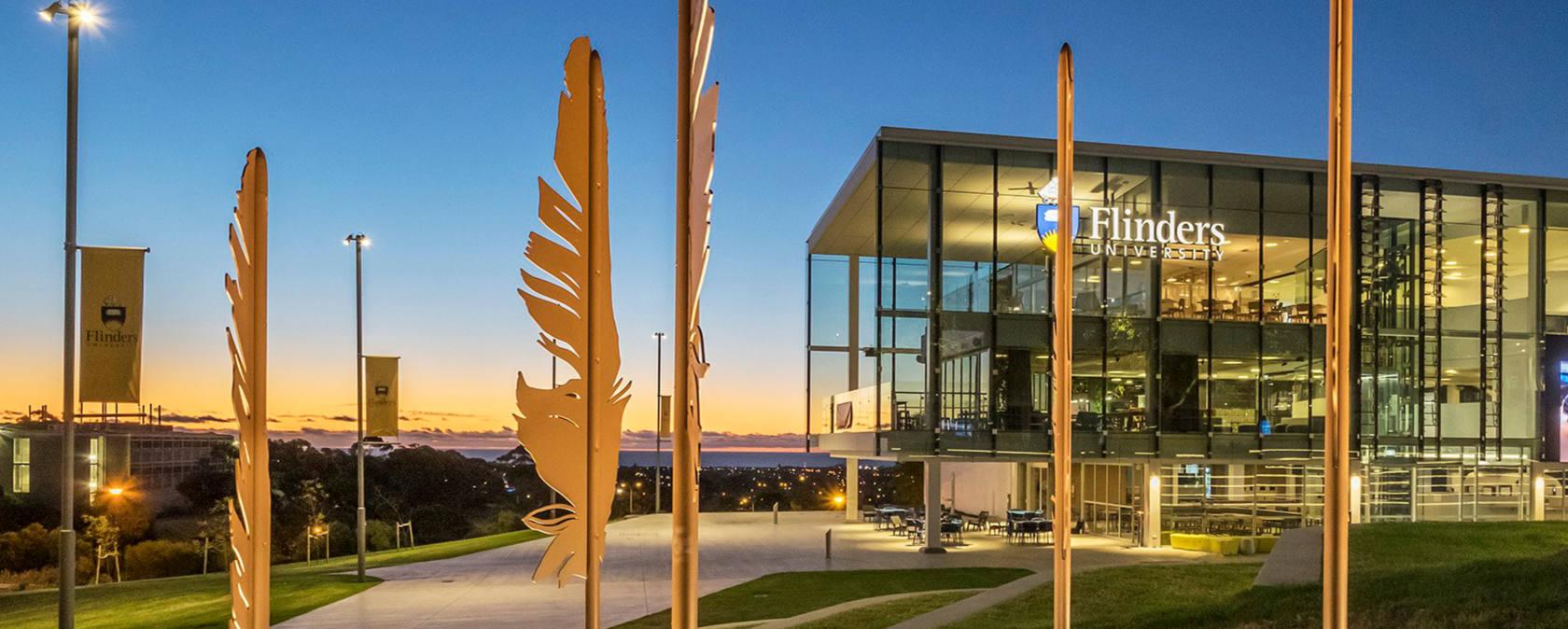 The Flinders University building