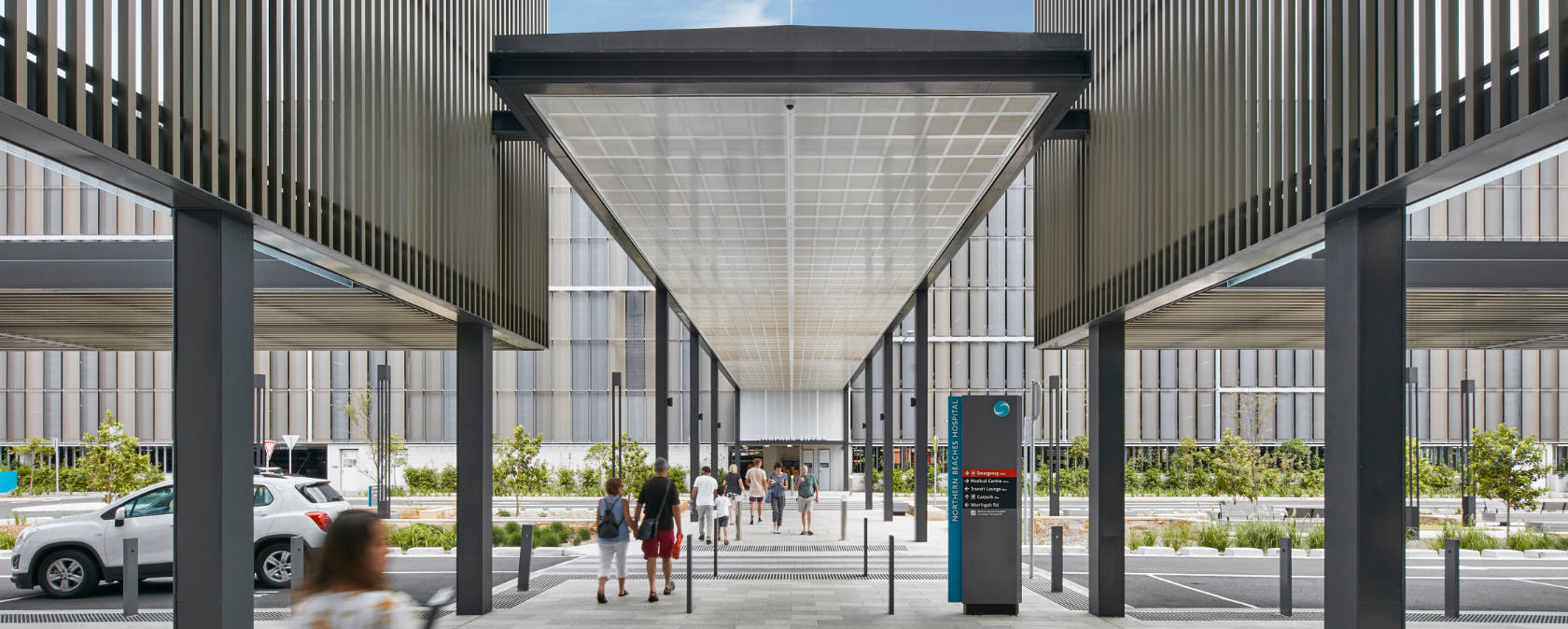 Front entrance of the Northern Beaches Hospital