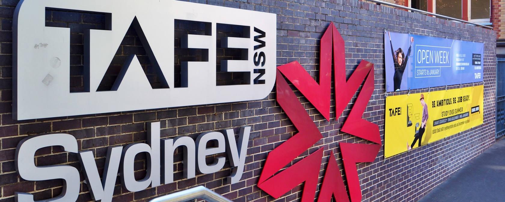 Signage for TAFE NSW Sydney